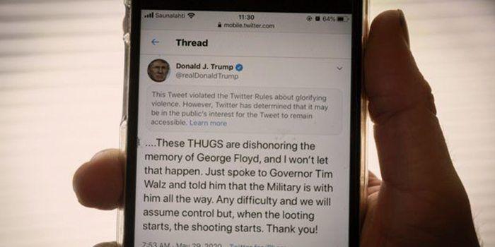 Donald Trump son tweet censuré