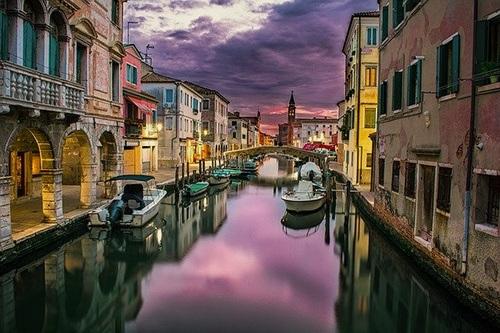 Vacances d'été à Venise