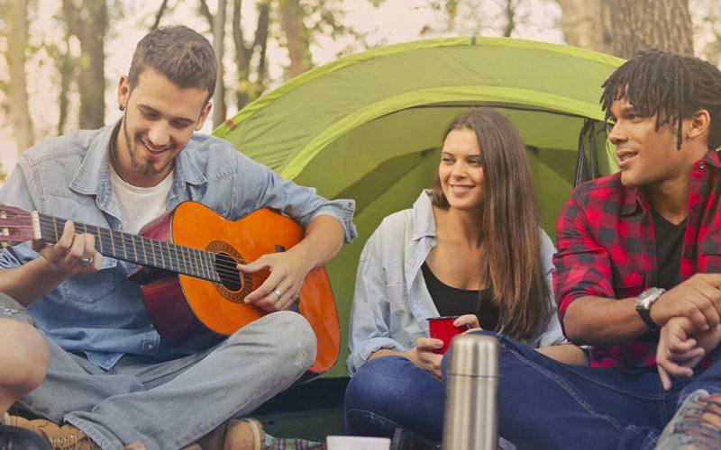 Vacances d'été au camping