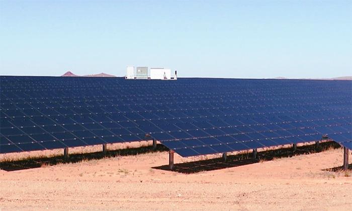 Exemple d'une ferme solaire