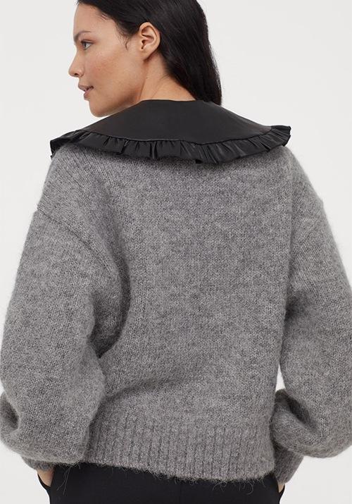 Pull gris tendance de chez H&M