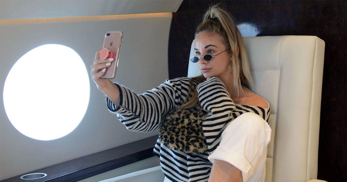 Instagram - faux jet privé