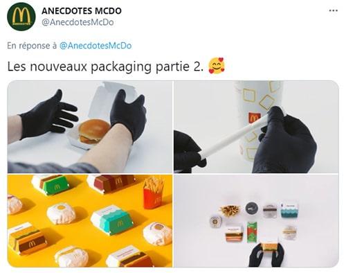 Les nouveaux packaging de McDonald's