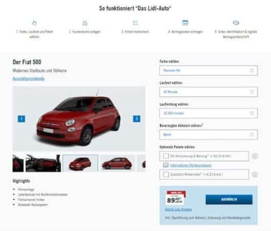 Lidl se lance dans la vente de voitures !