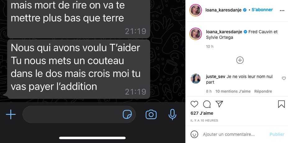 Post Loana sur Instagram